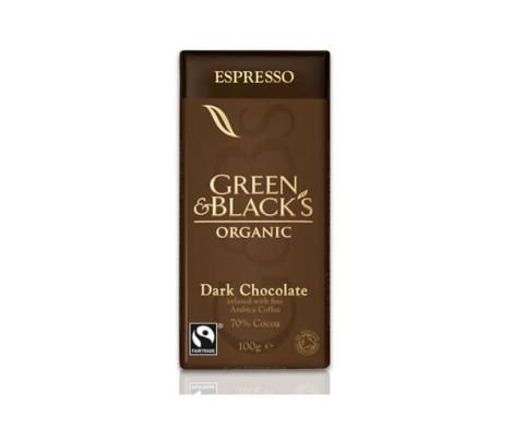 Green and Black Dark Espresso Chocolate (100g)