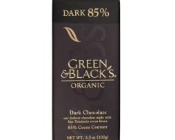 Green and Black Dark 85% Chocolate (100g)